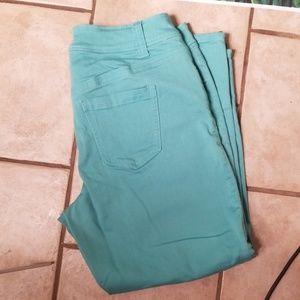 Lane Bryant 14 foam green cutoffs with zipper side